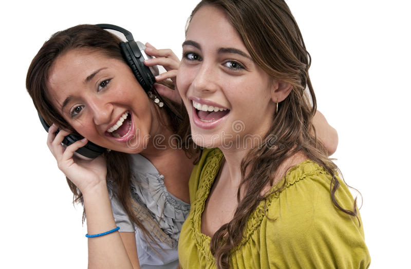 Freundschaft und Musik lizenzfreies stockfoto