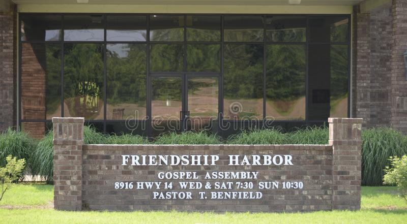 Freundschafts-Hafen-Kirchen-Zeichen, Millignton, TN stockbild