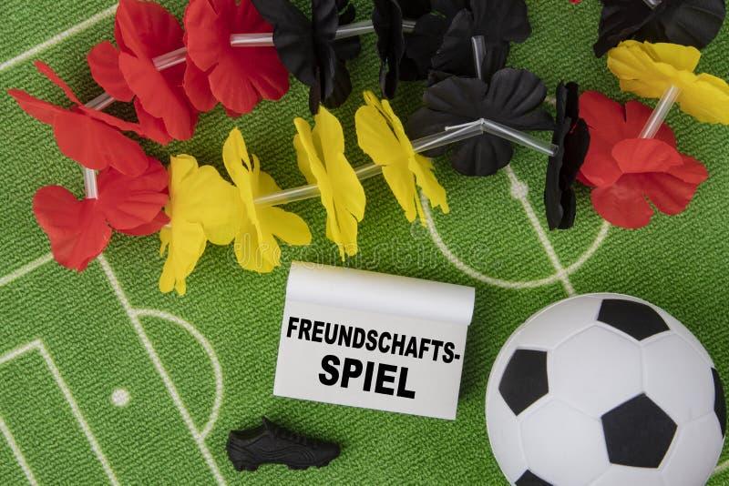 Freundschafts-Match stockfoto