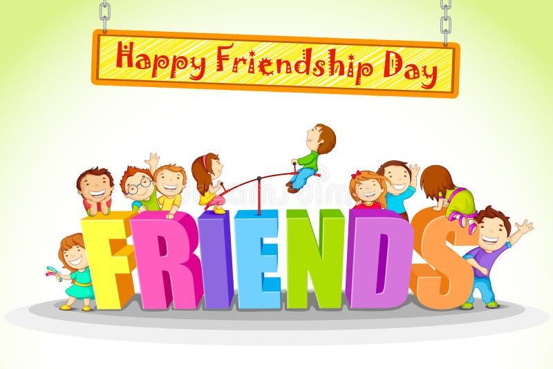 Freundschafts-Tag lizenzfreie abbildung