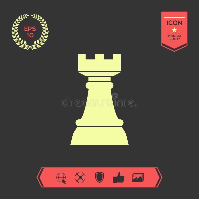 Freux d'échecs Icône de stratégie Éléments graphiques pour votre conception illustration libre de droits