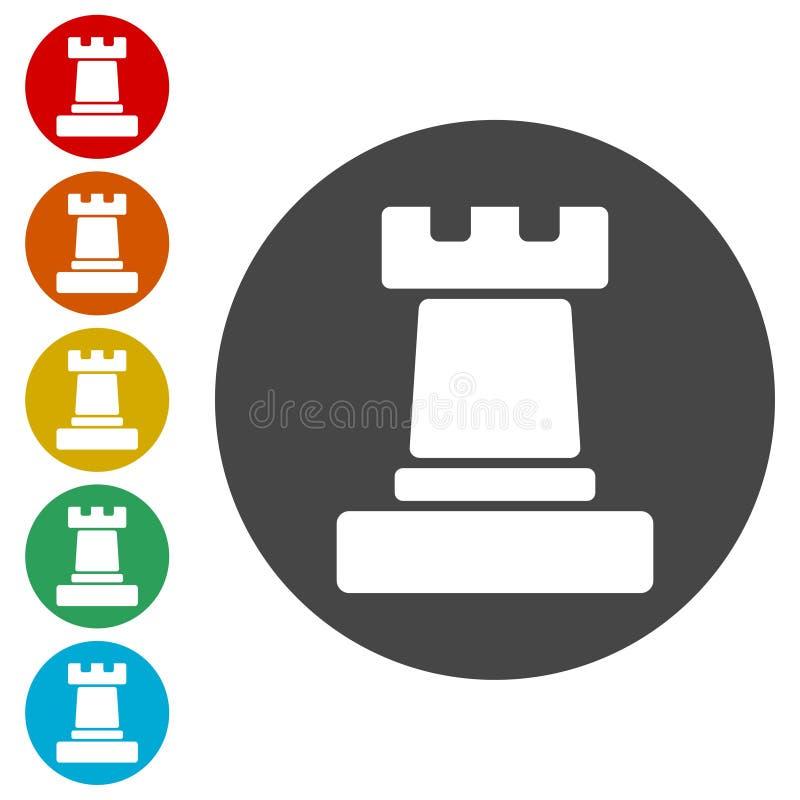 Freux simple d'échecs d'icône illustration libre de droits