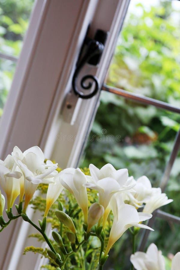 Frezi chałupy okno zdjęcia royalty free