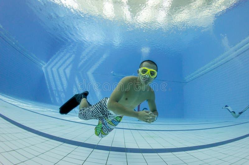 Fri dykningutbildning royaltyfria foton