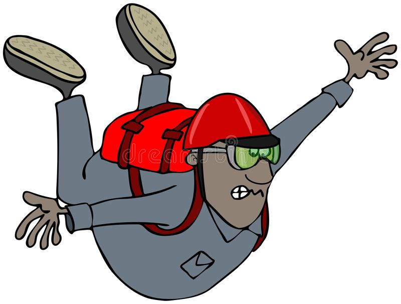 Fri fallande skydiver royaltyfri illustrationer