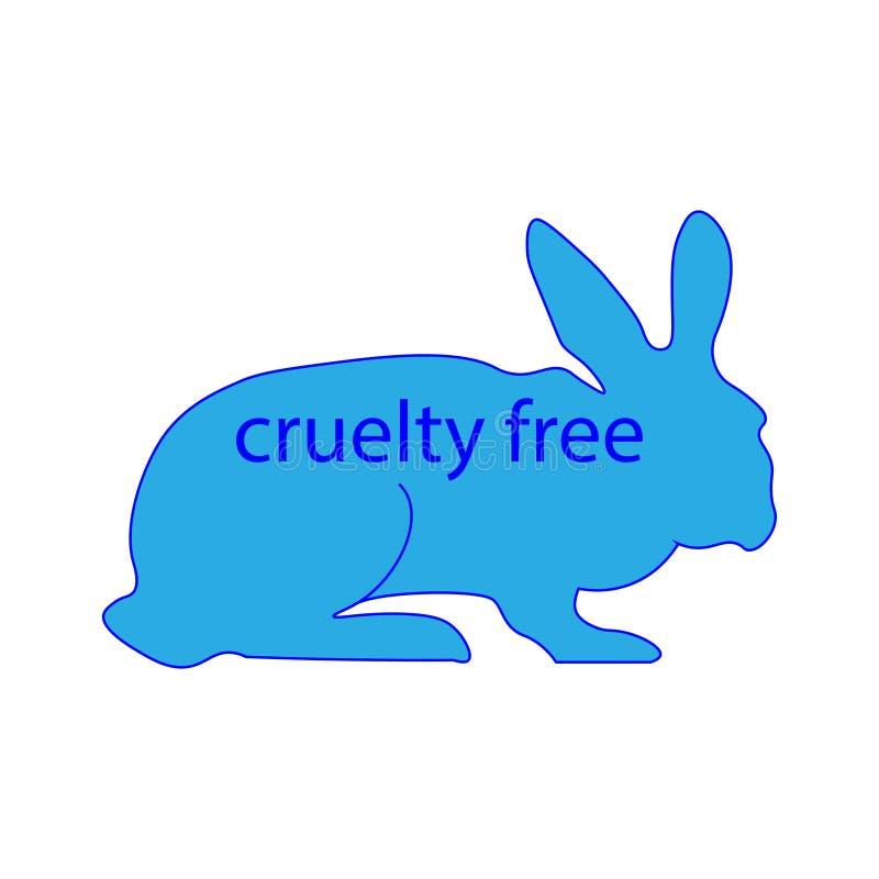 Fri fläck för grymhet Kanintecken royaltyfri illustrationer