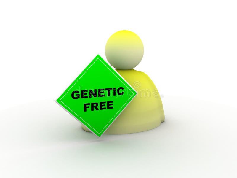 fri genetisk symbol royaltyfri illustrationer