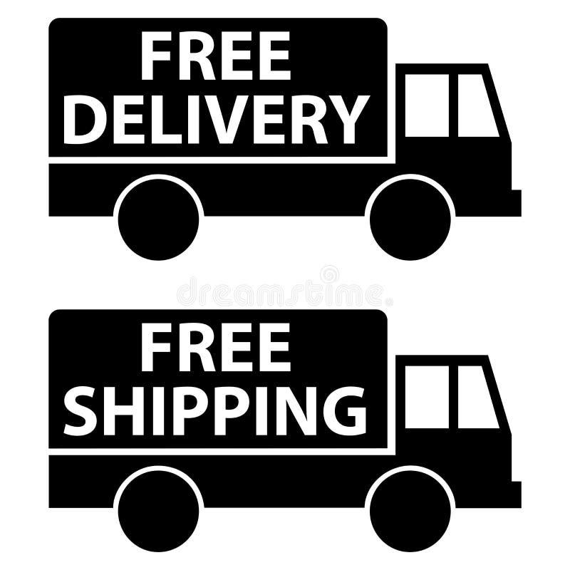 Fri leverans och sändnings royaltyfri illustrationer