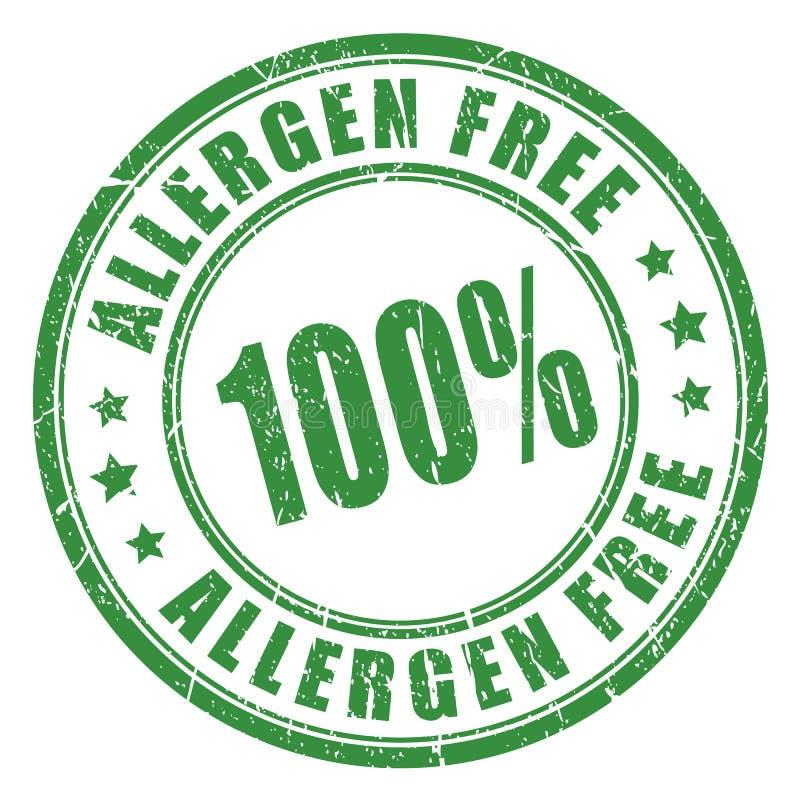 Fri rubber stämpel för allergen stock illustrationer