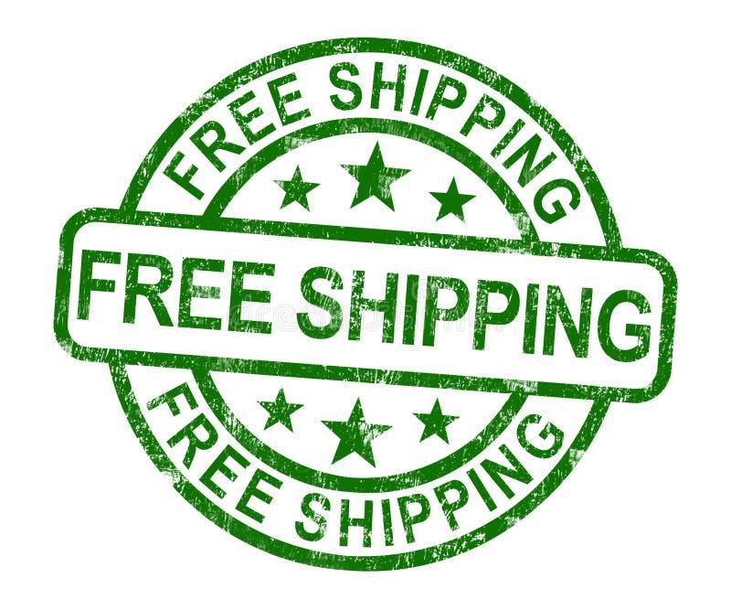 Fri sändningsstämpel som visar ingen laddning, eller kostnadsfritt för att leverera royaltyfri illustrationer