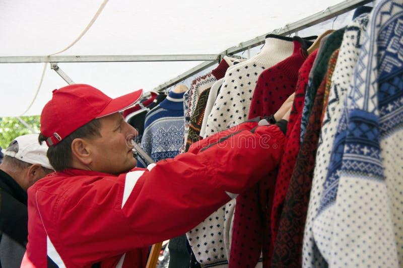 Fri shopping för skatt i Tromso royaltyfria bilder