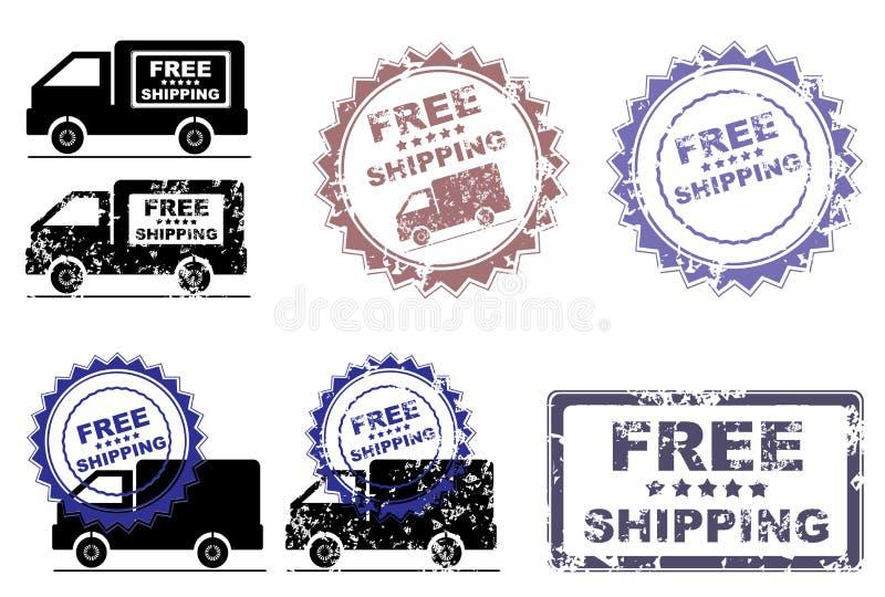 Fri stämpel för sändningsdetaljhandelbefordran vektor illustrationer