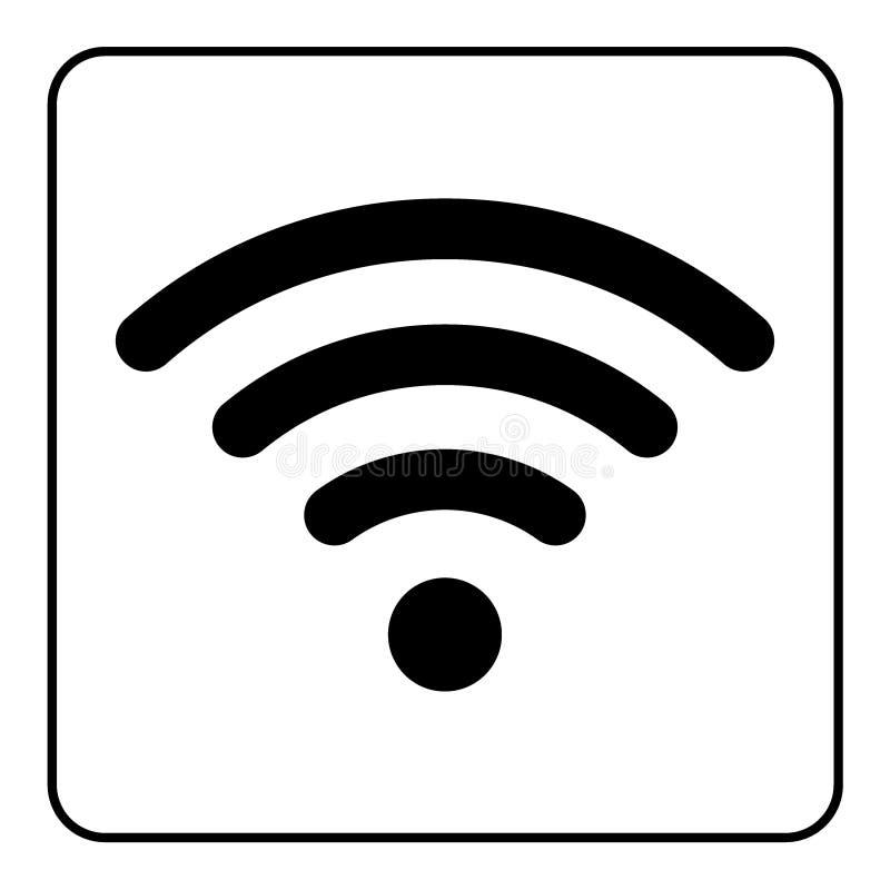 Fri symbol Wi-Fi stock illustrationer