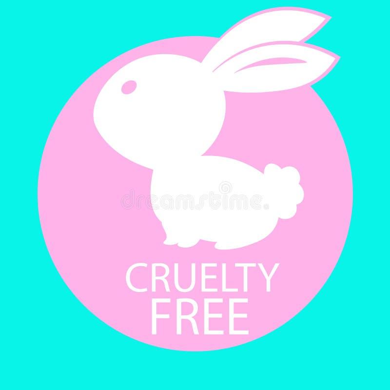 Fri symbolsdesign för djur grymhet stock illustrationer