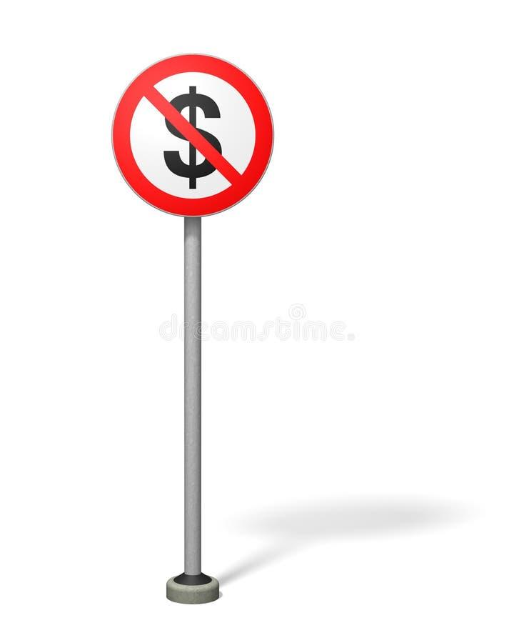 fri zon för dollar royaltyfri illustrationer