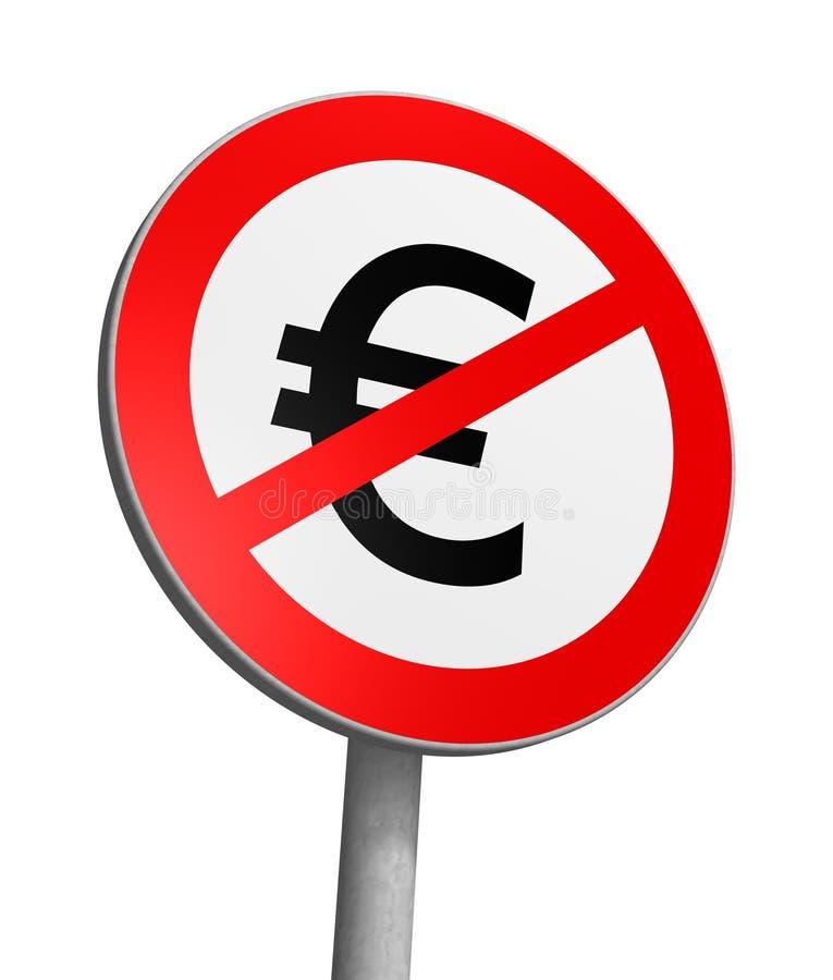 fri zon för euro stock illustrationer