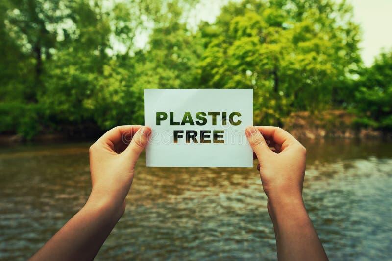 Fri zon för plast- royaltyfri fotografi
