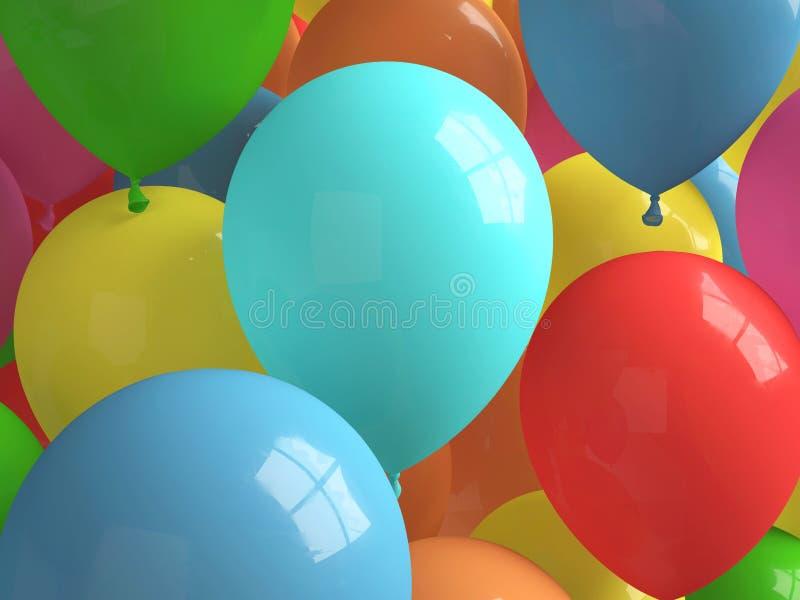 Fria Baloons stock illustrationer