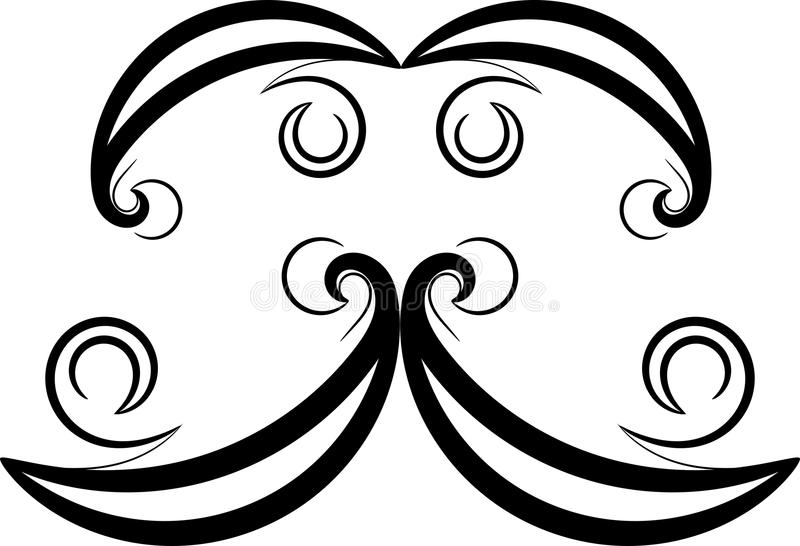 Fria händerdesign stock illustrationer