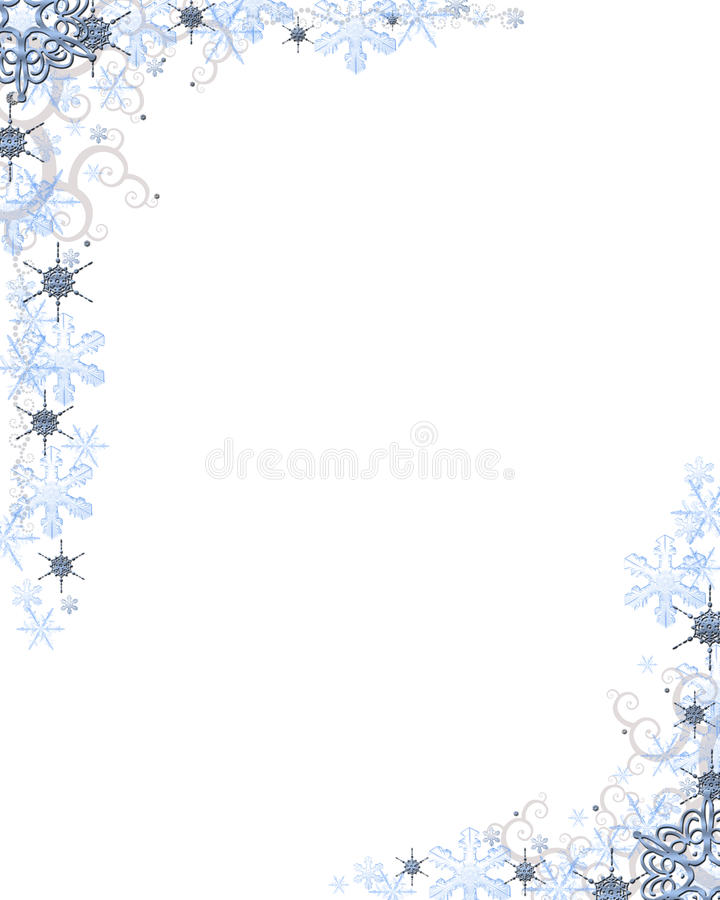 Frialdad de la nieve stock de ilustración