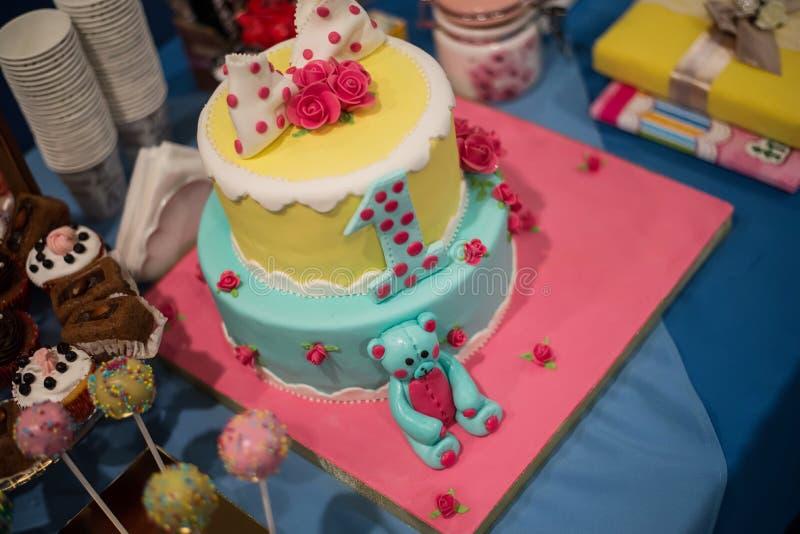 Friandise et gâteau merveilleux photographie stock libre de droits