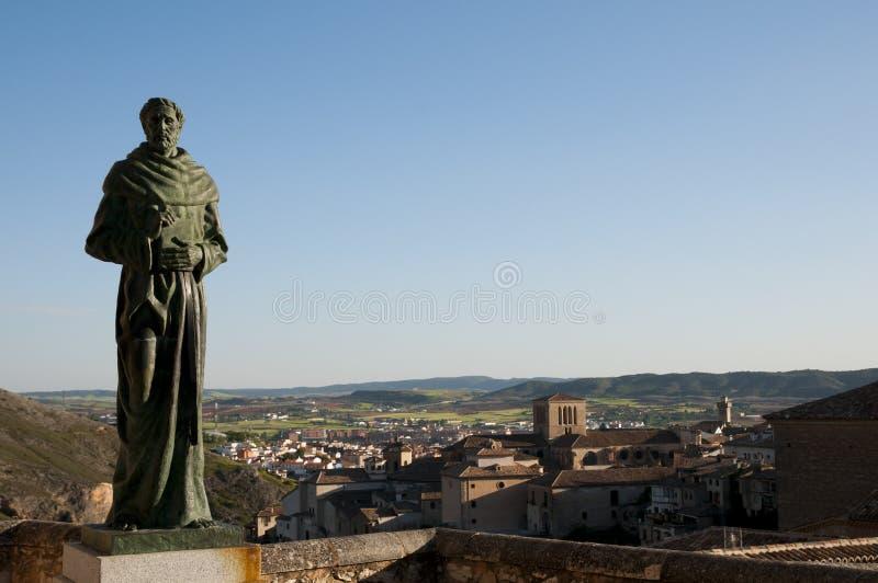 Friar άγαλμα - Cuenca - Ισπανία στοκ εικόνες