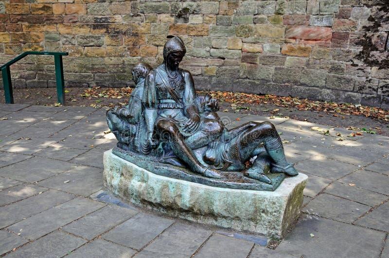 Friar η πιέτα, ο ερυθρός και μικρός John στοκ φωτογραφία με δικαίωμα ελεύθερης χρήσης