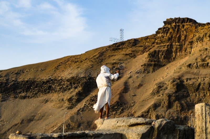Ο friar απότομος βράχος άλματος, ένα όμορφο ορόσημο με μια ενδιαφέρουσα πίσω-ιστορία στοκ εικόνες