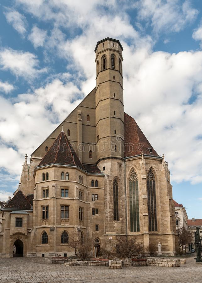 Friars δευτερεύουσα μοναστηριακή εκκλησία, Minoritenkirche στη Βιέννη στοκ εικόνα με δικαίωμα ελεύθερης χρήσης