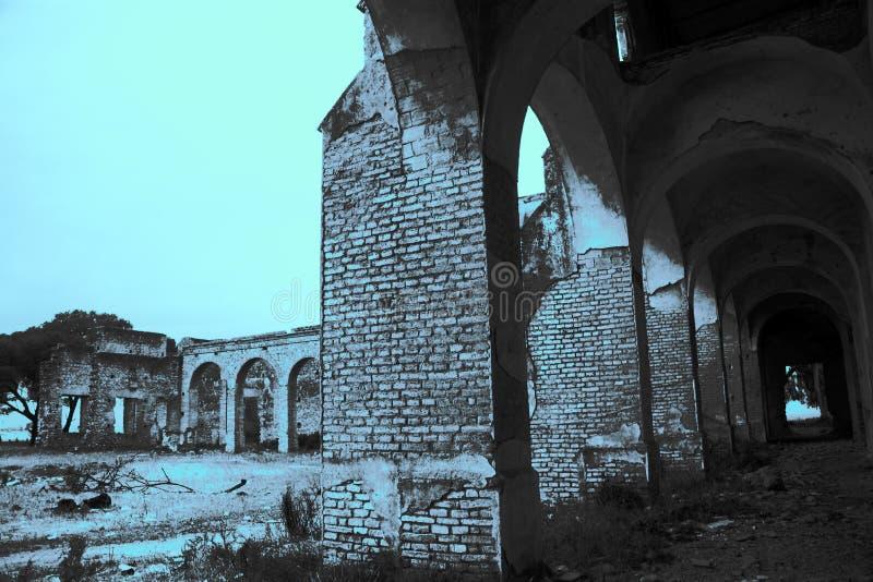 Friars' Convent, ruinerna från ett ganska gammalt kloster i Carmona Seville 7 royaltyfri bild