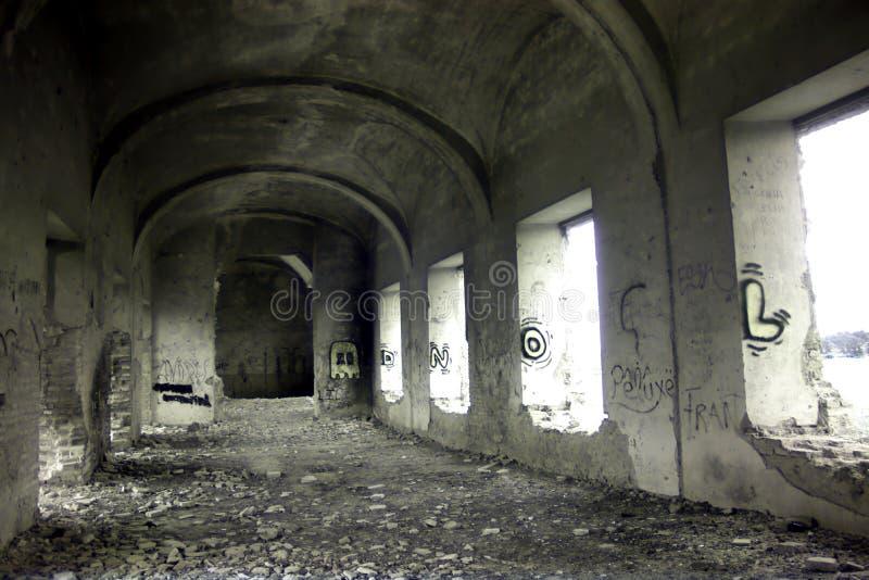Friars' Convent, ruinerna från ett ganska gammalt kloster i Carmona Seville 9 arkivbild