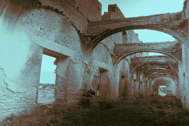 Friars' Convent, ruinerna från ett ganska gammalt kloster i Carmona Seville 10 royaltyfria bilder