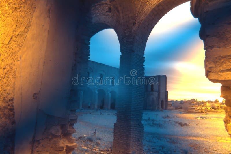 Friars' Convent, ruinerna från ett ganska gammalt kloster i Carmona Seville 11 arkivbild