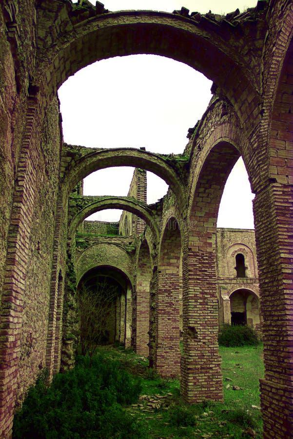 Friars' Convent, ruinerna från ett ganska gammalt kloster i Carmona Seville 13 royaltyfria bilder