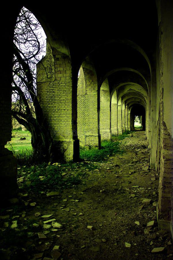 Friars' Convent, ruinerna från ett ganska gammalt kloster i Carmona Seville 14 royaltyfri foto