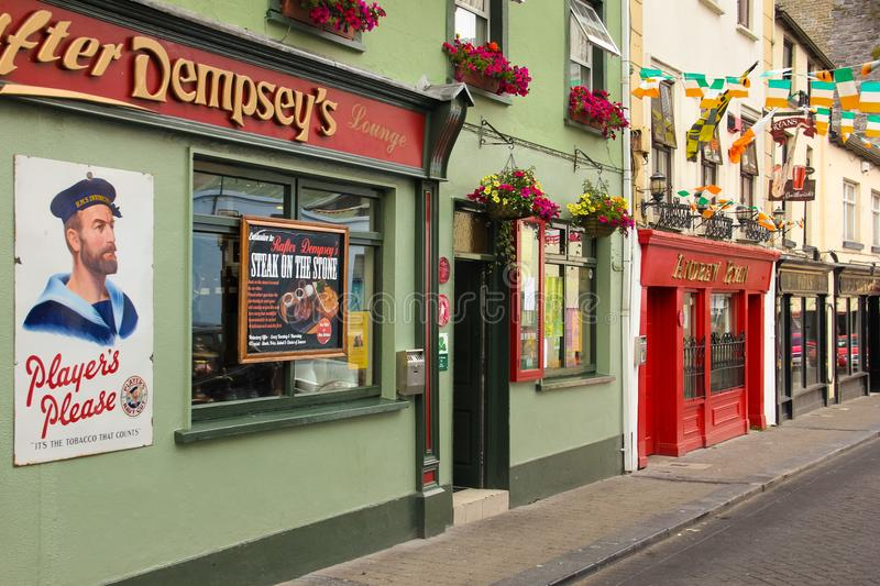 Friary street. Kilkenny. Ireland. Picturesque and colourful pubs and restaurants in Friary street. Kilkenny. county Kilkenny. Ireland royalty free stock images