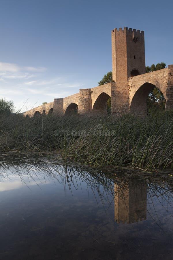 Frias,布尔戈斯桥梁  库存图片