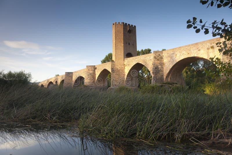 Frias,布尔戈斯桥梁  免版税图库摄影