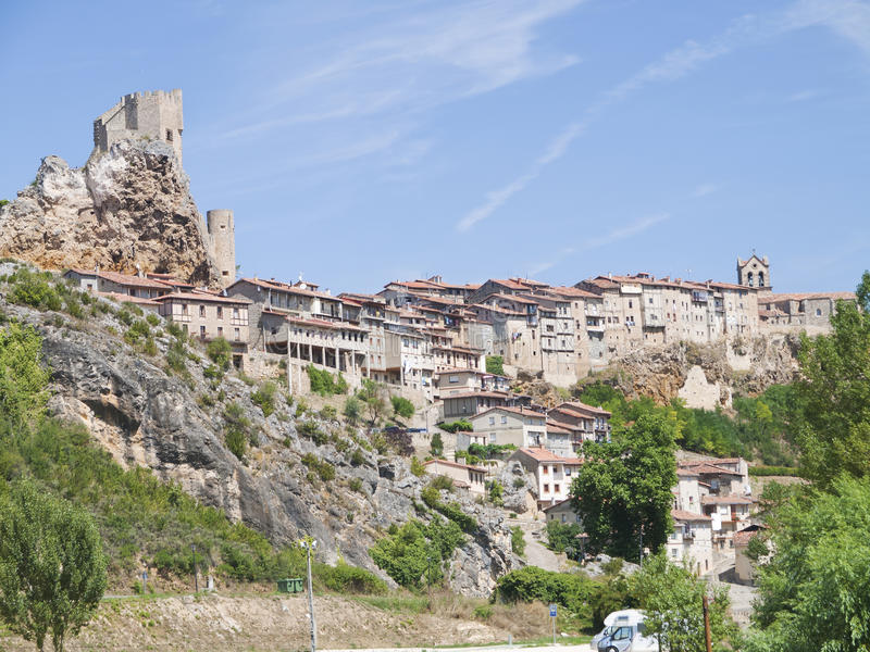 Frias medieval town of Burgos province, Spain royalty free stock photo