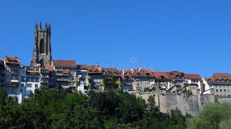 fribourg ορίζοντας Ελβετία στοκ εικόνα με δικαίωμα ελεύθερης χρήσης