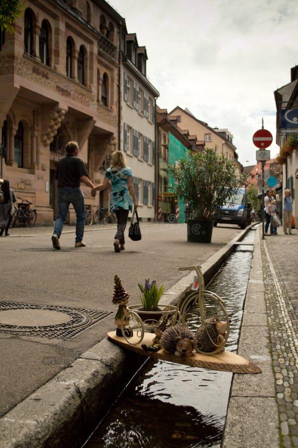 Fribourg Bächle image libre de droits
