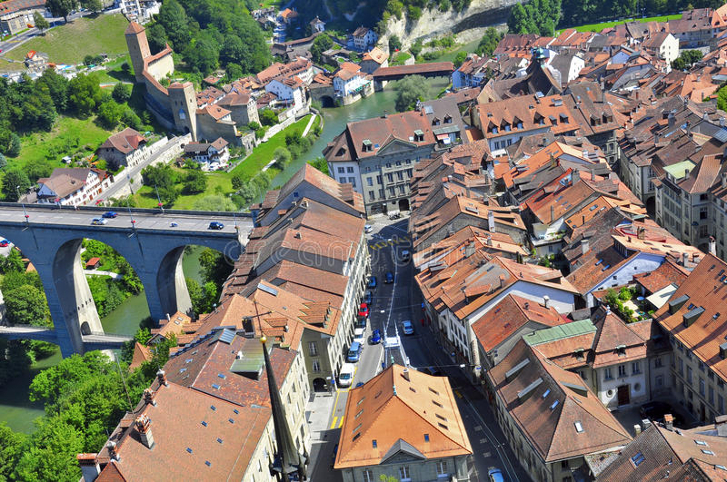 Download Fribourg stock image. Image of cityscape, bridge, street - 32776393