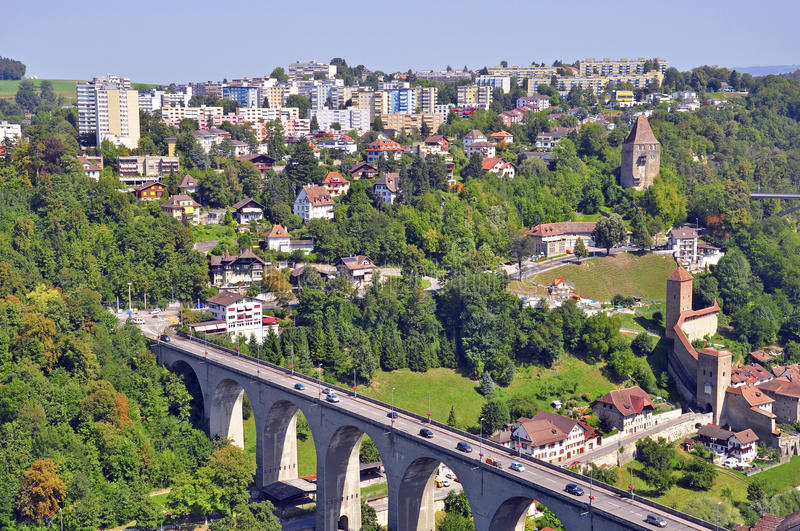 Download Fribourg stock image. Image of viewpoint, roofs, scenic - 32776529