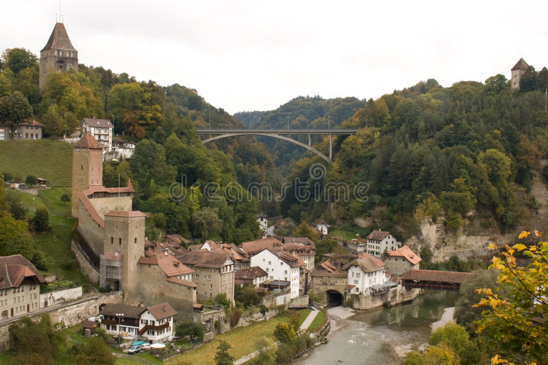 Fribourg. Zwitserland royalty-vrije stock afbeelding