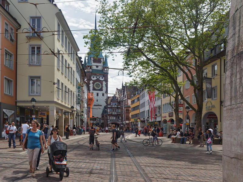FRIBURGO IM BREISLAU, GERMANY-JUNE 25,2015 fotografía de archivo libre de regalías
