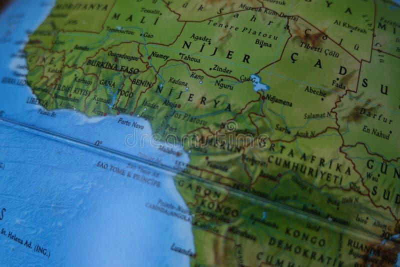 ?frica do Sul no mapa fotos de stock royalty free