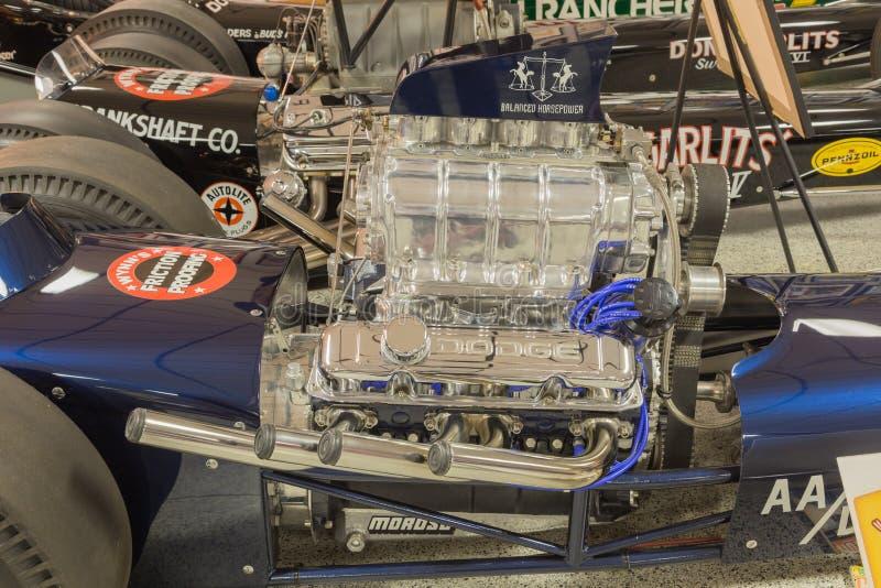 Fricción del AA Fueler que compite con el motor foto de archivo