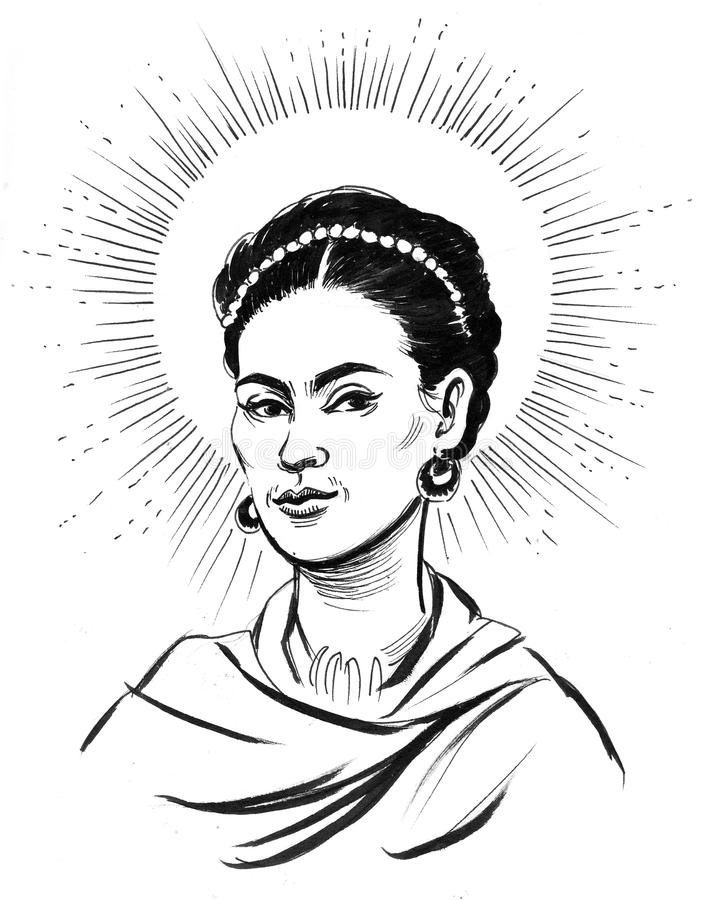 Frida Kahlo royaltyfri illustrationer