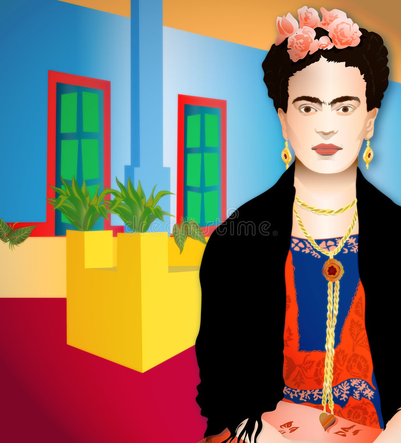 Frida Kahlo stock illustration