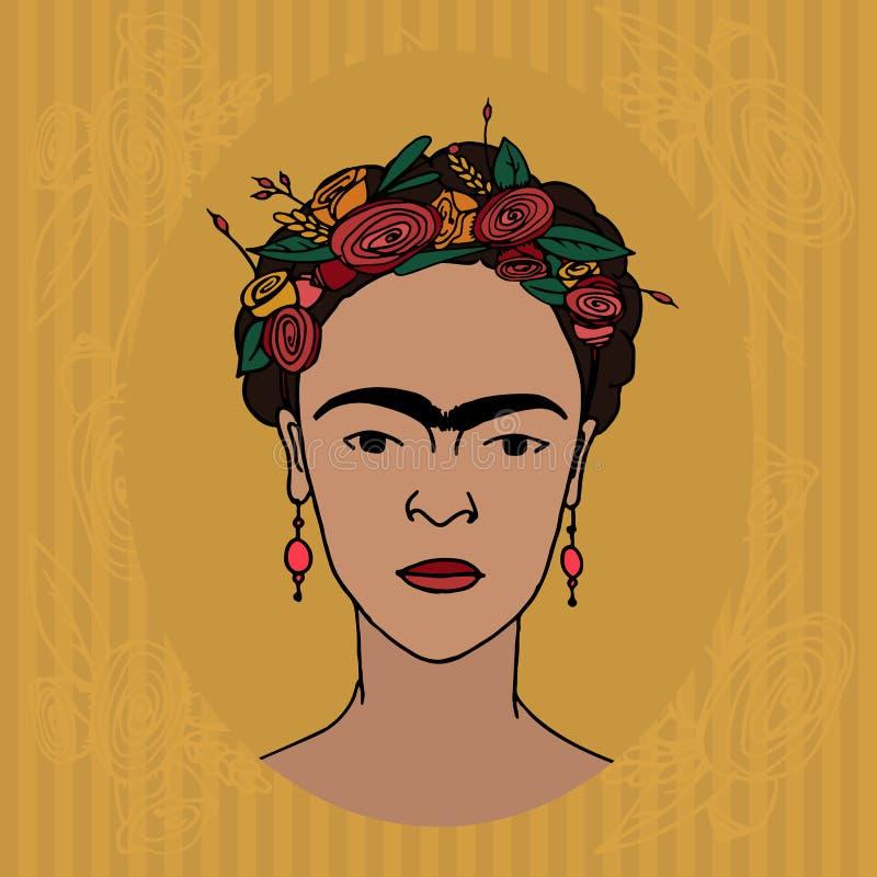 Frida Kahlo illustration de vecteur
